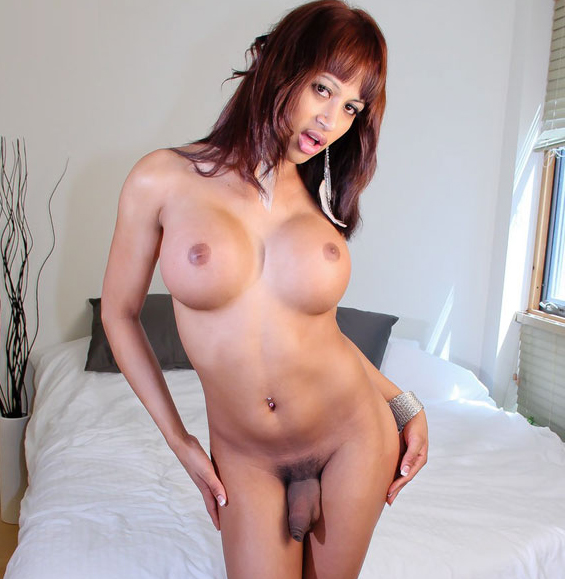 Latina Big Tits Annabella Showing off her Huge Tits  and Cock