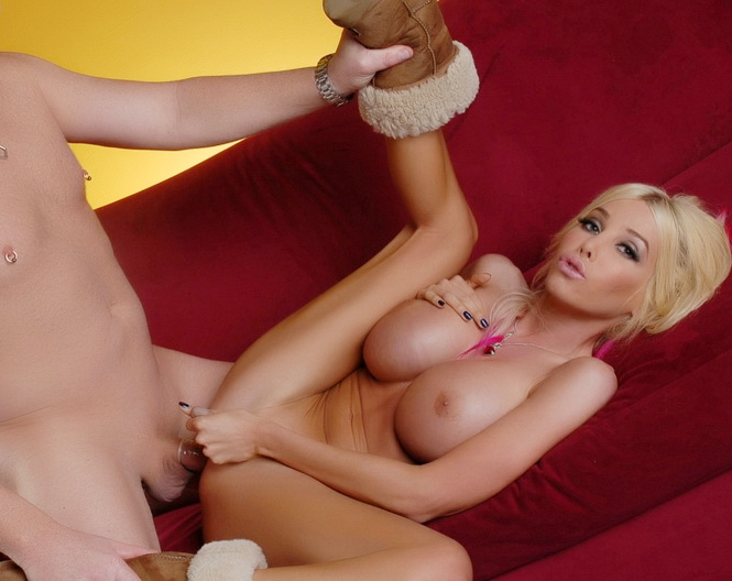 Kimber James Feeling good while Touching her huge tits